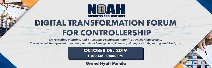 NOAH Business Applications Digital Transformation Forum for Controllership